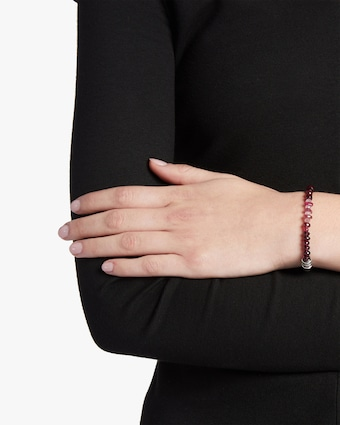 Classic Chain Tourmaline and Garnet Bracelet