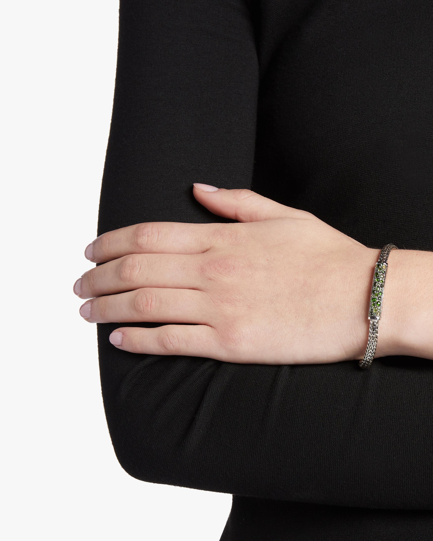 Classic Chain Green Tourmaline Bracelet