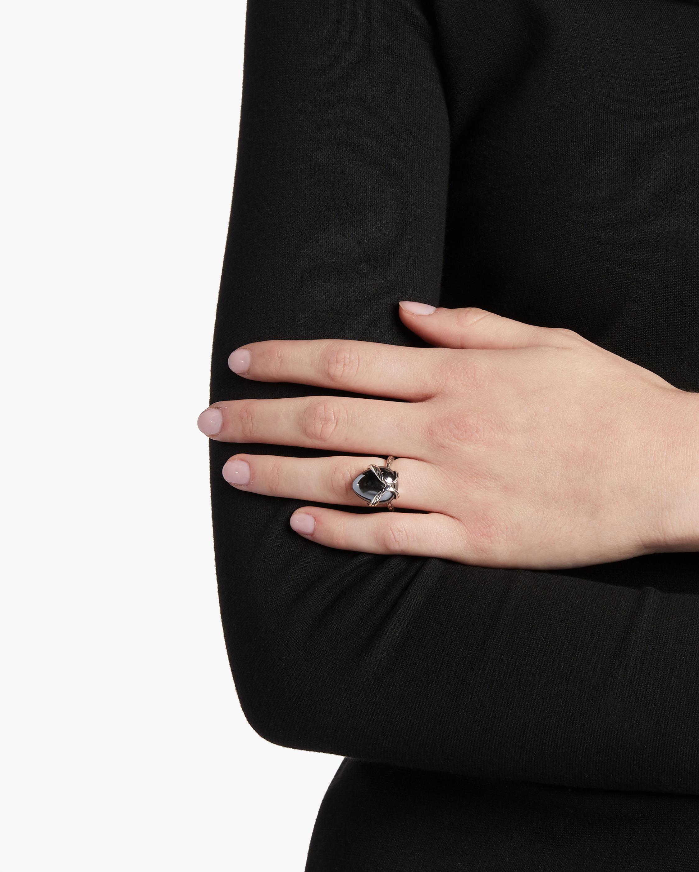 Classic Chain Hematite Ring