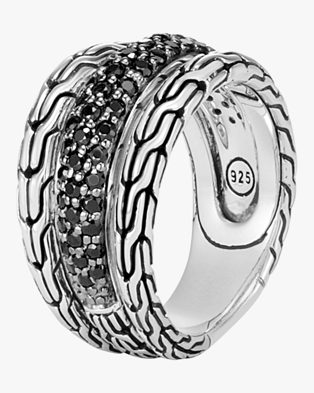 Classic Chain Black Sapphire Ring