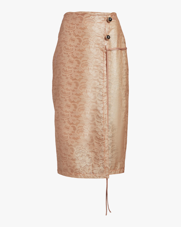Laminated Lace Wrap Skirt