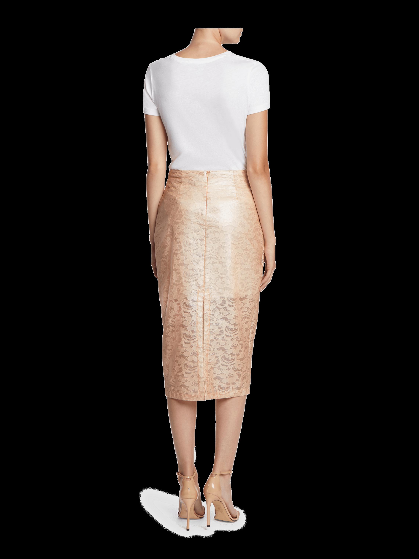 Laminated Lace Wrap Skirt Yigal Azrouël
