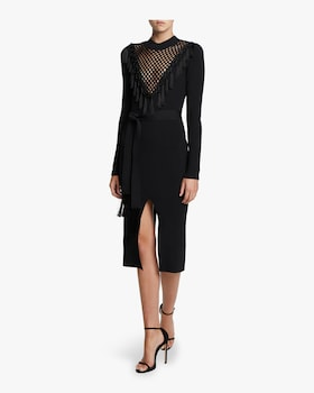 Macrame Front Knit Dress