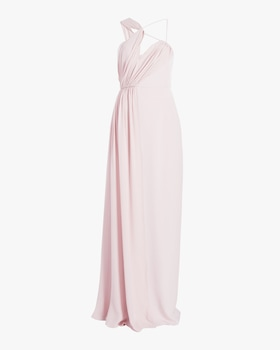 Draped Double Georgette Gown