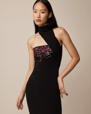 Night Rainbow Sequin Pencil Dress