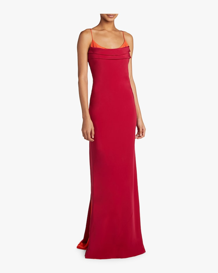 Two Color Sleeveless Gown Cushnie