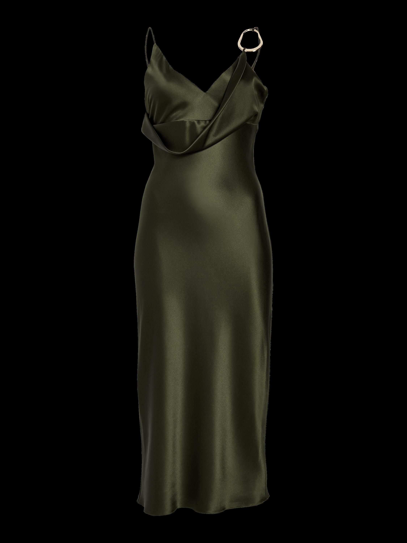 Front Cowl Pencil Dress