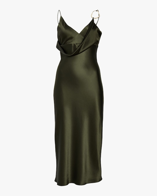 Cushnie Front Cowl Pencil Dress 0