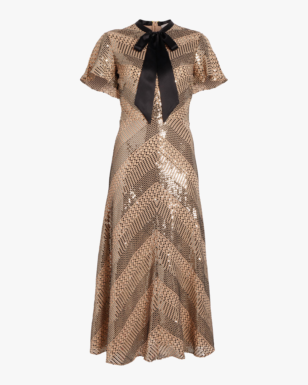 Platinum Midi Dress