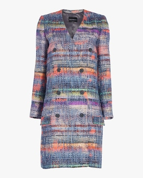 Tweed Double Breasted Coat