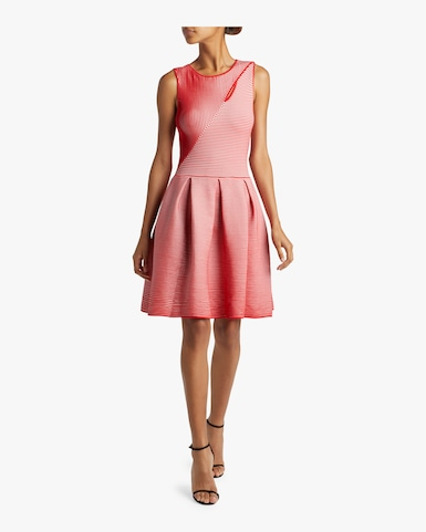 Illusion Fit and Flare Dress