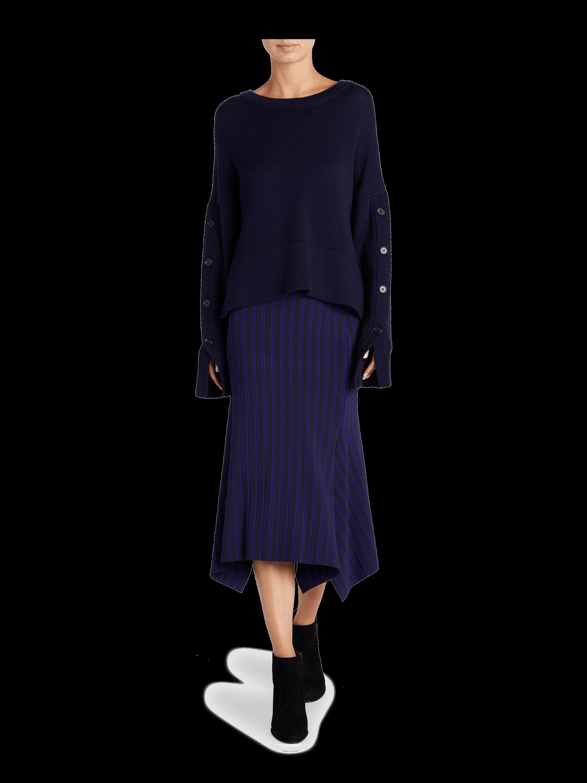 Two Tone Knit Handkerchief Skirt