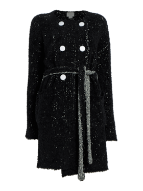 Merino Boucle Double Breasted Coat