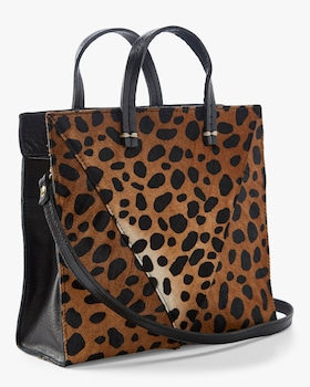 Leopard Patchwork V Petit Simple Tote