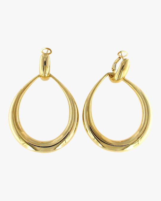 Roberto Coin Gold Contoured Door Knocker Earrings 0