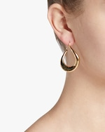 Roberto Coin Oval Hoop Earrings 1