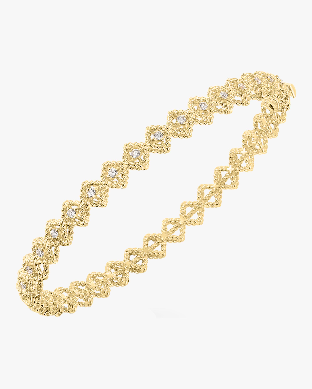 Single Row Diamond Bangle Bracelet