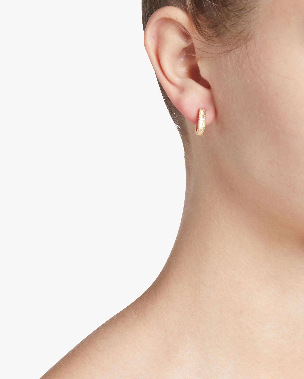 Roberto Coin Diamond Princess Huggie Hoop Earrings 2