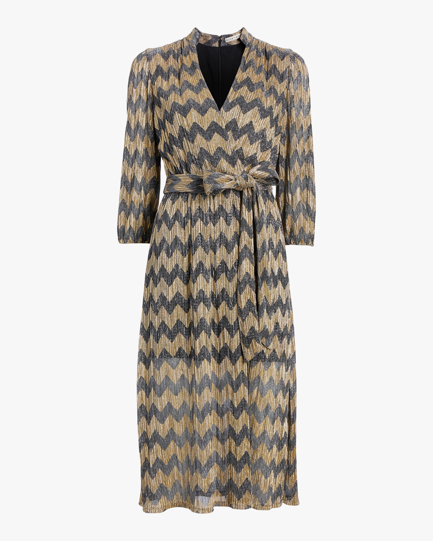 Katina Gathered Midi Dress