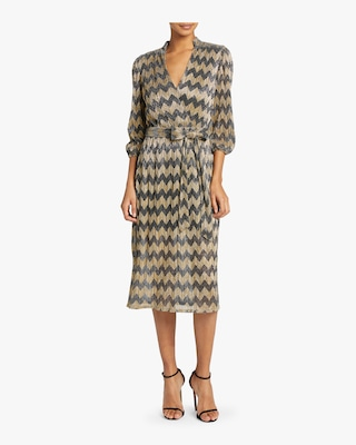 Katina Gathered Midi Dress